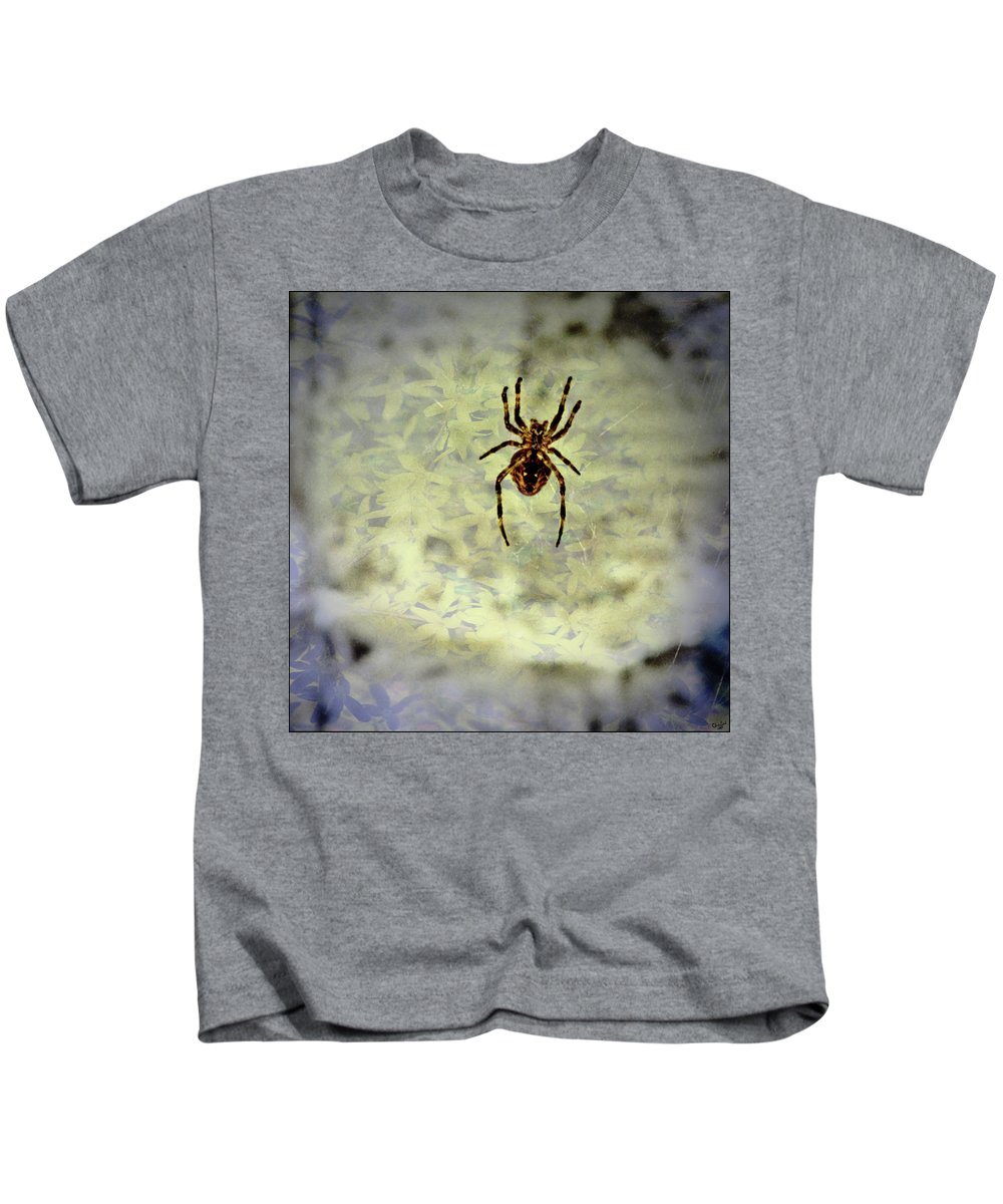 Spider Kids T-Shirt featuring the photograph The Spider Waits by Chris Lord