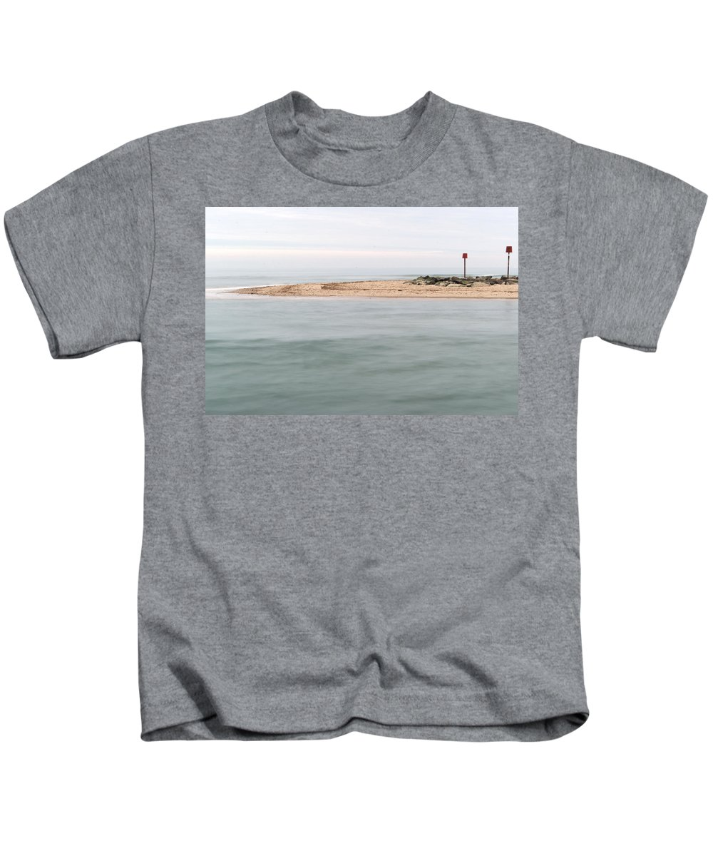 Sand Kids T-Shirt featuring the photograph The Spit by Chris Day