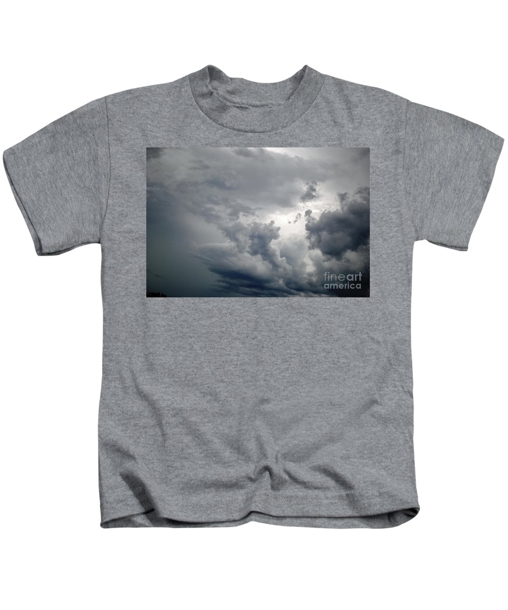 Clouds Kids T-Shirt featuring the photograph The Storm by Jost Houk