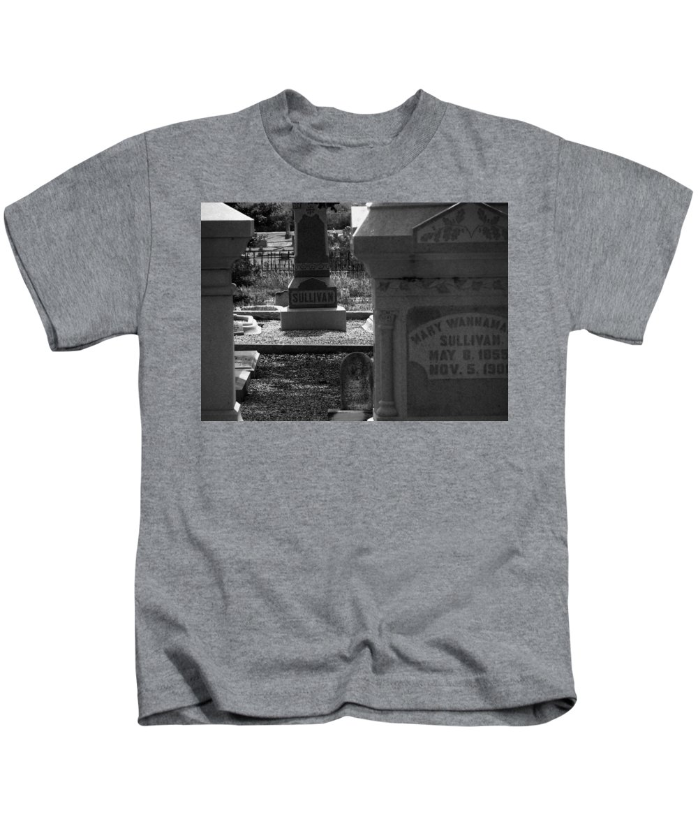 Cemetary Kids T-Shirt featuring the photograph The Sullivan Burial Plot by Rusty Gentry