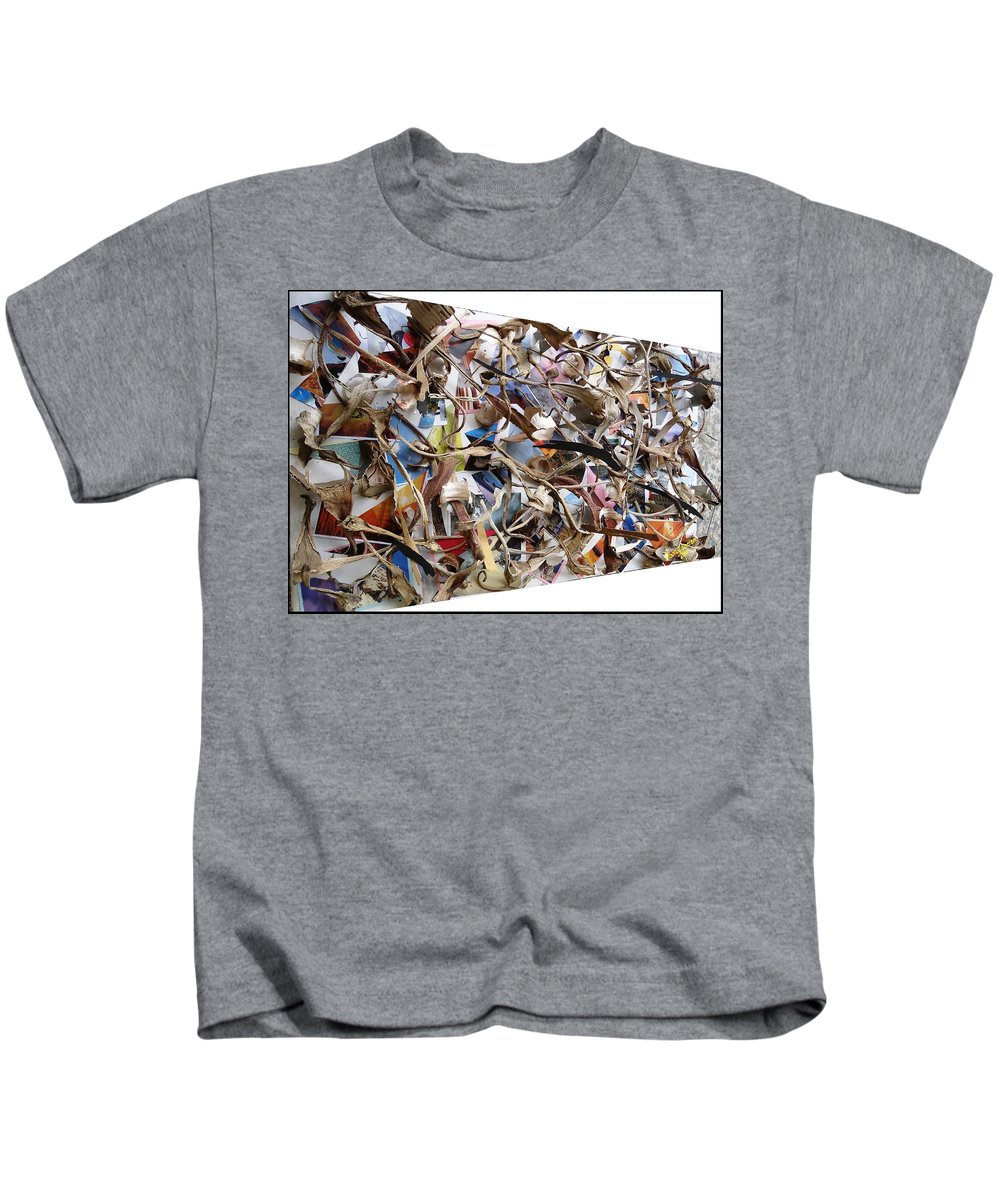 Synergies Kids T-Shirt featuring the digital art The Synergies Of Recycling Wastes And Intellects #511 by Mbonu Emerem