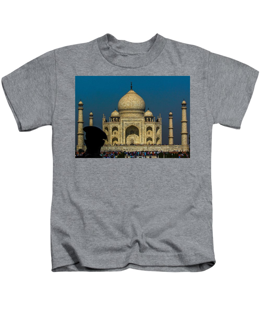 India Kids T-Shirt featuring the photograph The Taj by Anupam Gupta