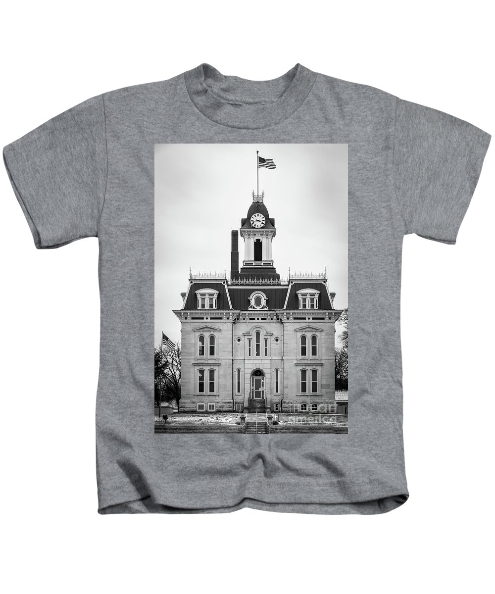 City Hall Kids T-Shirt featuring the photograph The Town Hall by Terri Morris