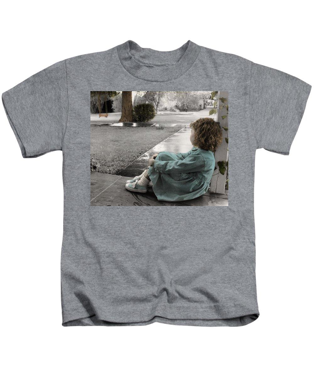 The Twelve Gifts Of Birth Kids T-Shirt featuring the photograph The Twelve Gifts Of Birth - Hope 1 by Jill Reger