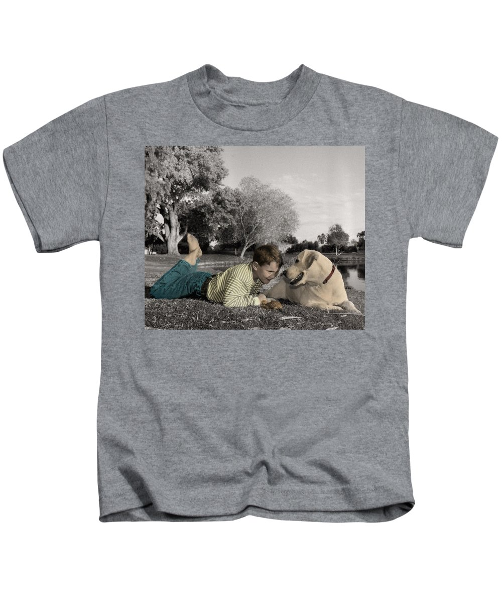 The Twelve Gifts Of Birth Kids T-Shirt featuring the photograph The Twelve Gifts Of Birth - Reverence 1 by Jill Reger
