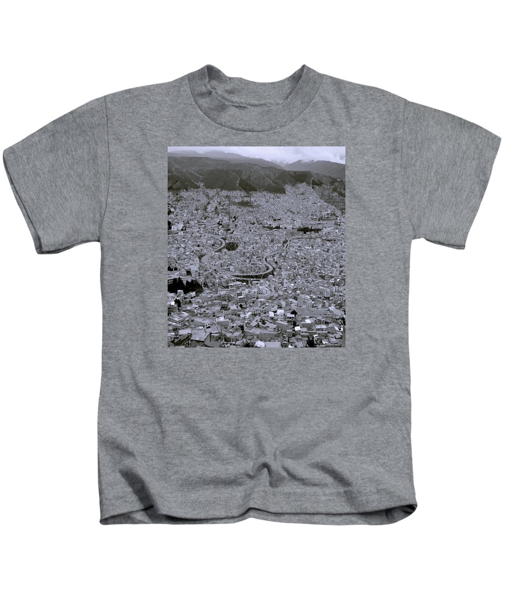 La Paz Kids T-Shirt featuring the photograph The Urban City by Shaun Higson