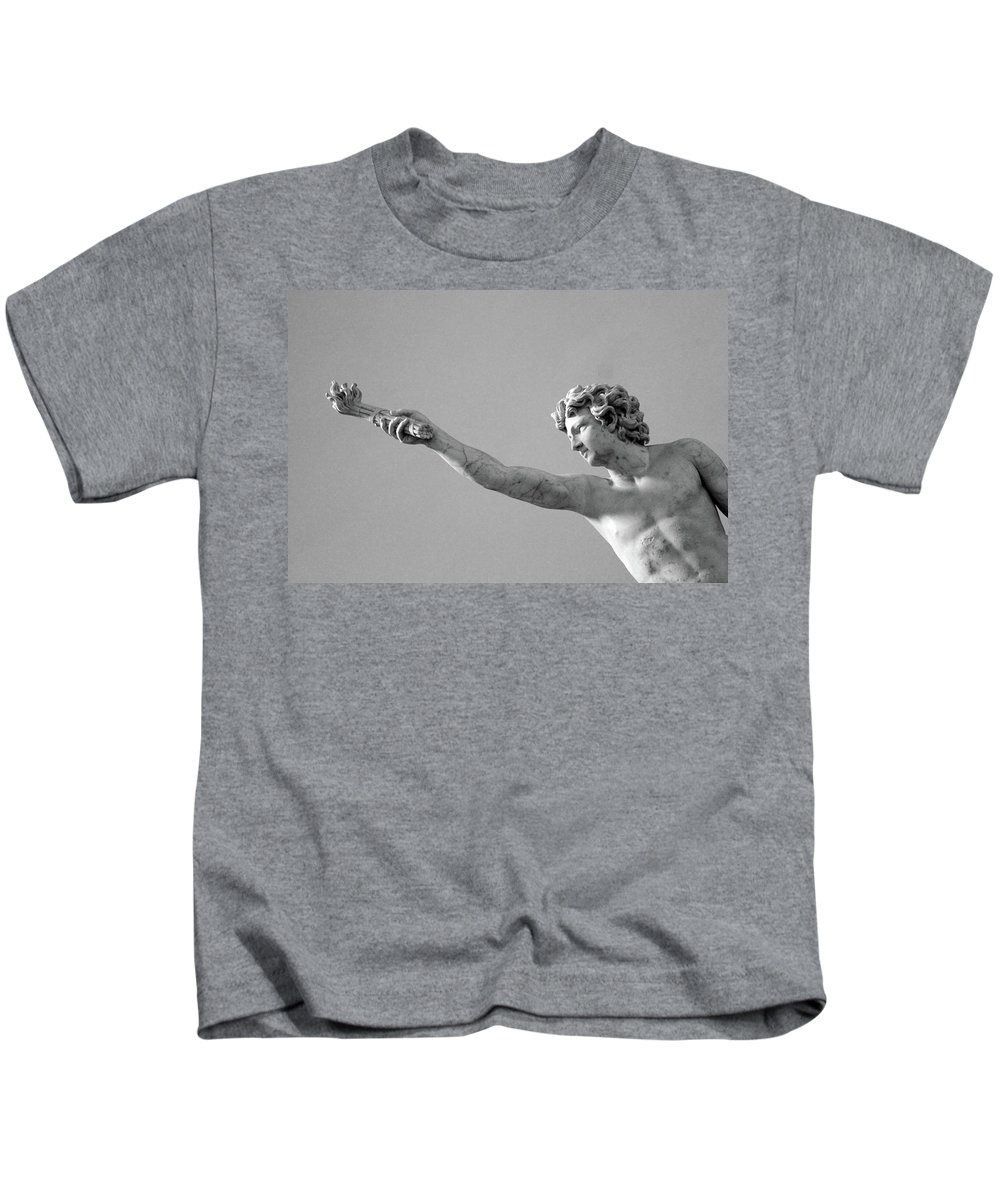 Black And White Kids T-Shirt featuring the photograph The Victory by Munir Alawi