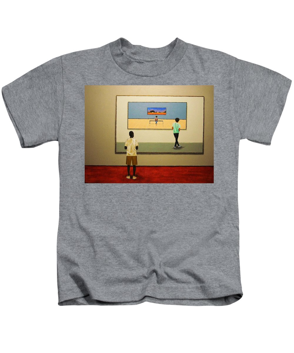 Painting Kids T-Shirt featuring the painting The View Within by Edith Peterson-Watson