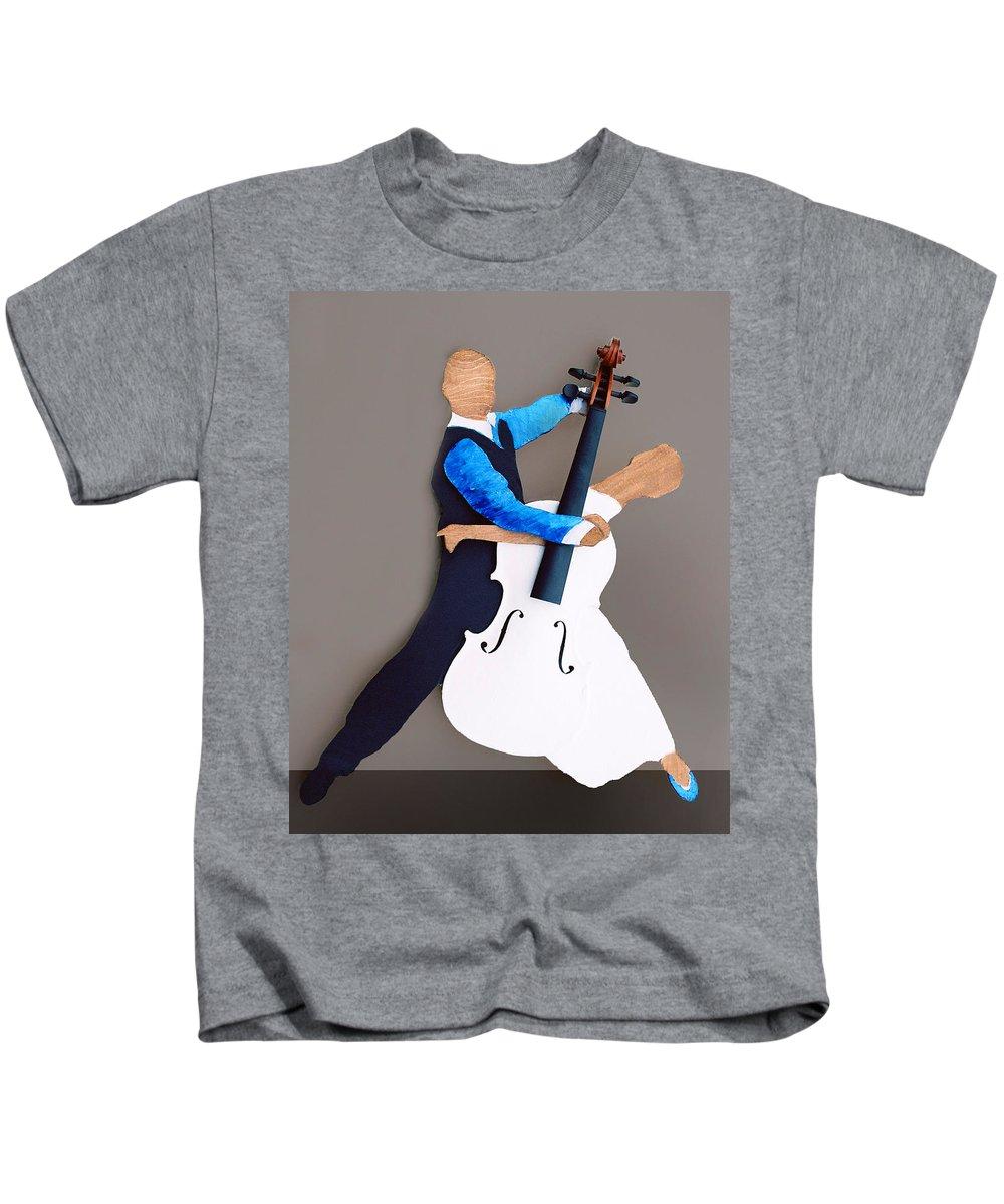 Dance Kids T-Shirt featuring the sculpture The Waltz by Steve Karol