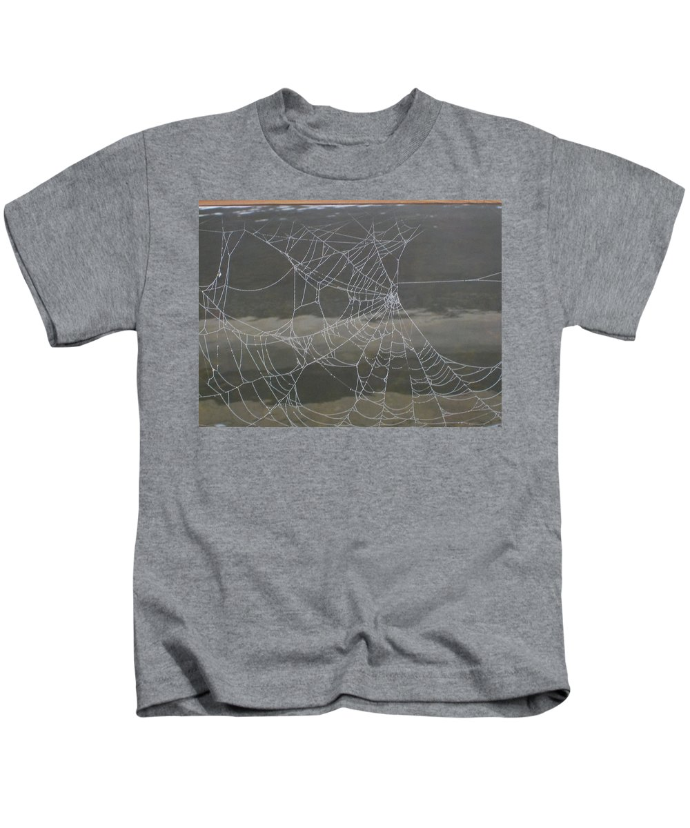 Insects Kids T-Shirt featuring the photograph The Web by Lynn Sobecke