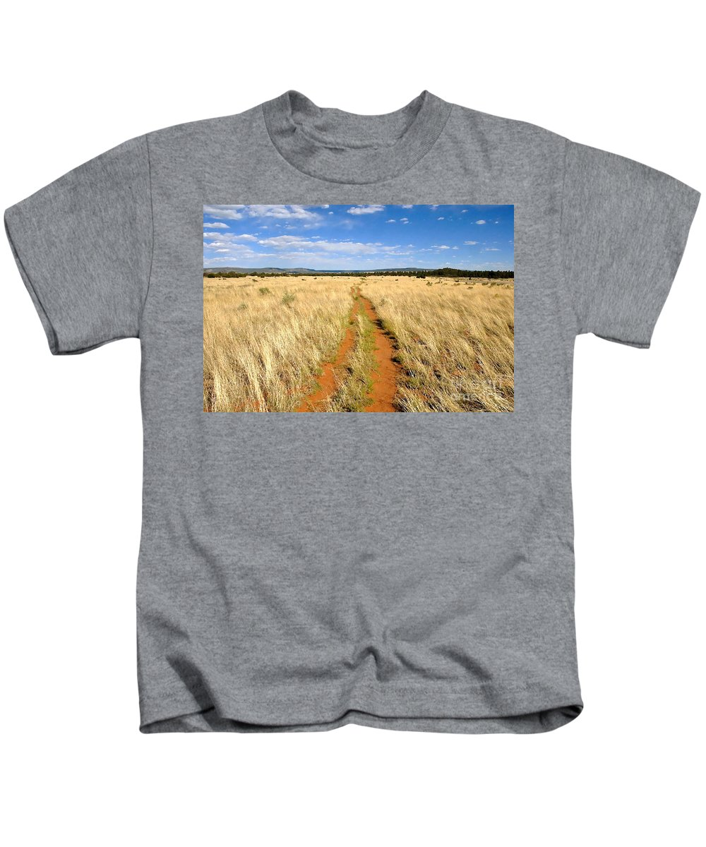 Trail Kids T-Shirt featuring the photograph The Westward Trail by David Lee Thompson