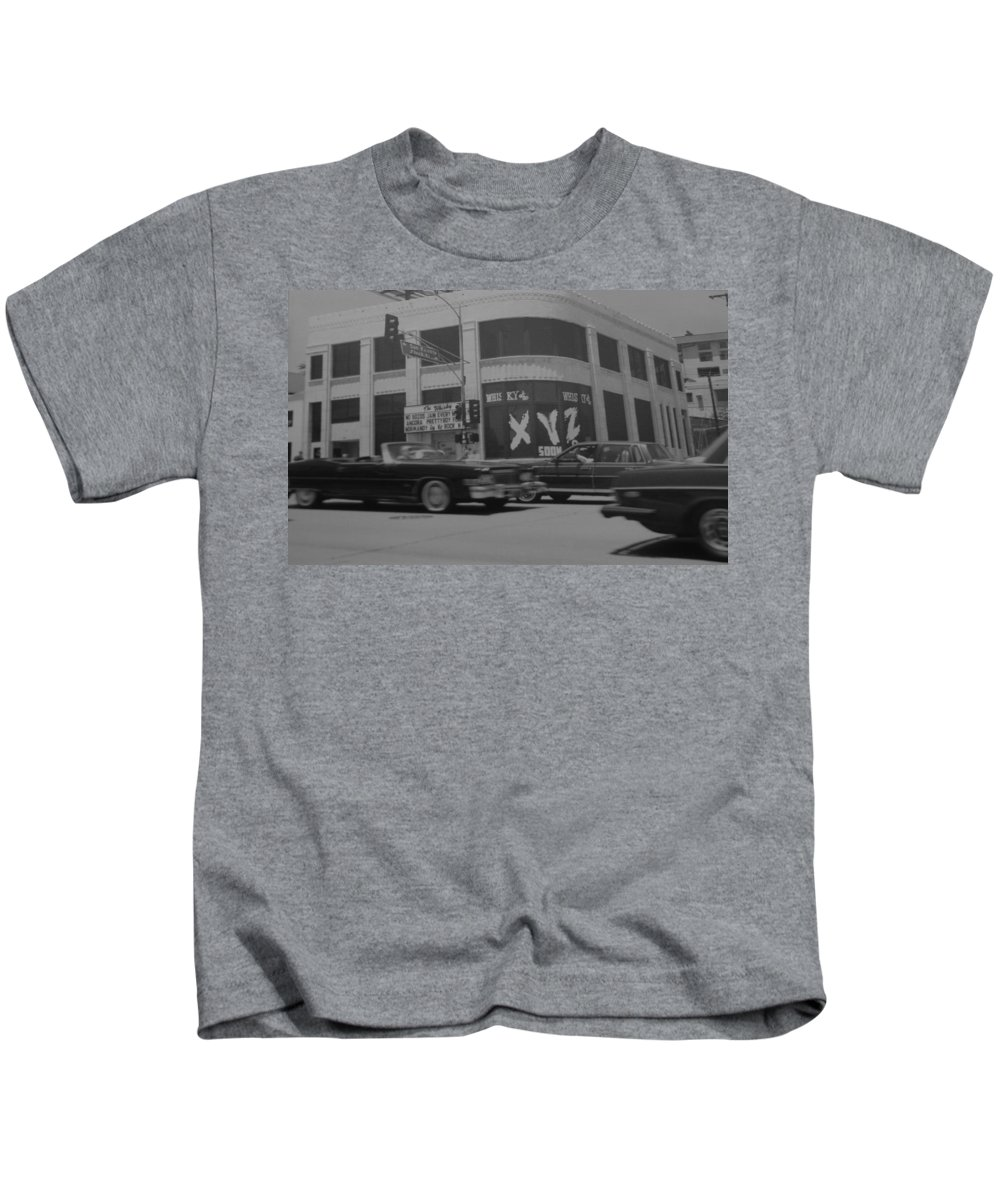 Black And White Kids T-Shirt featuring the photograph The Whiskey In Black And White by Rob Hans