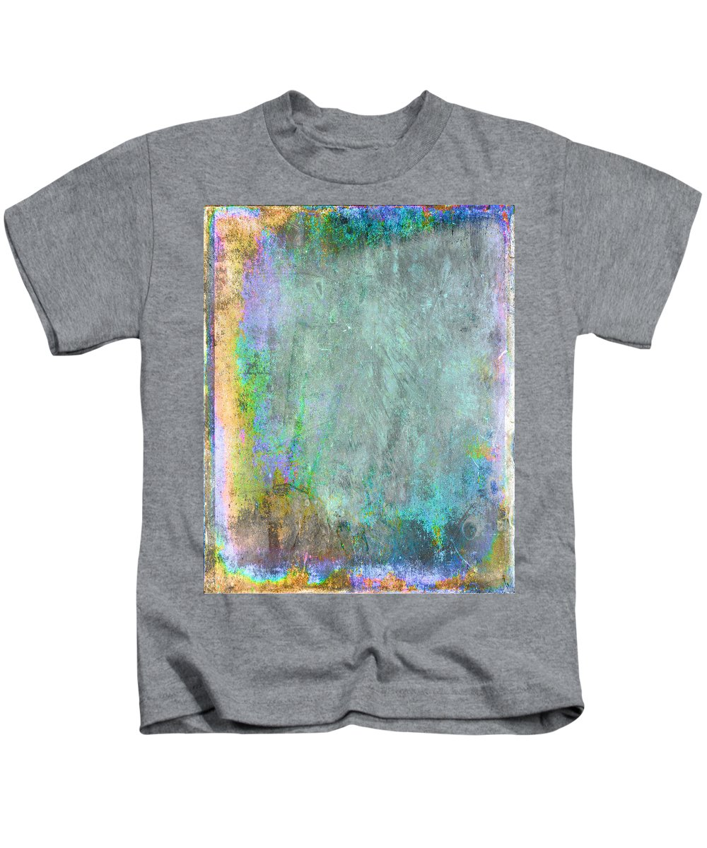 Gold Kids T-Shirt featuring the painting The Writing On The Wall by Julie Niemela