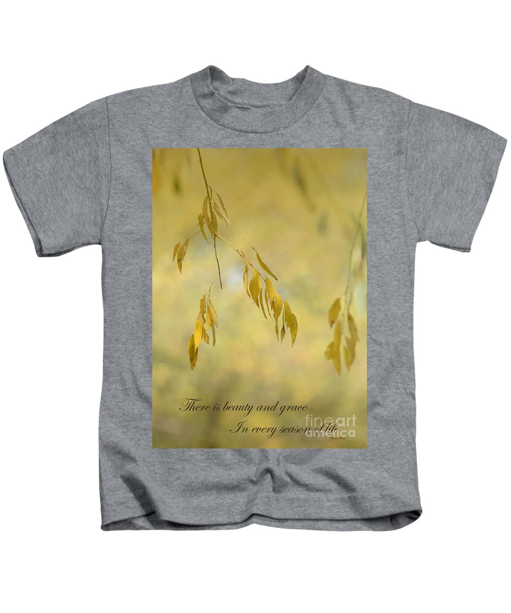 Quote Kids T-Shirt featuring the photograph There Is Beauty by Charles Owens