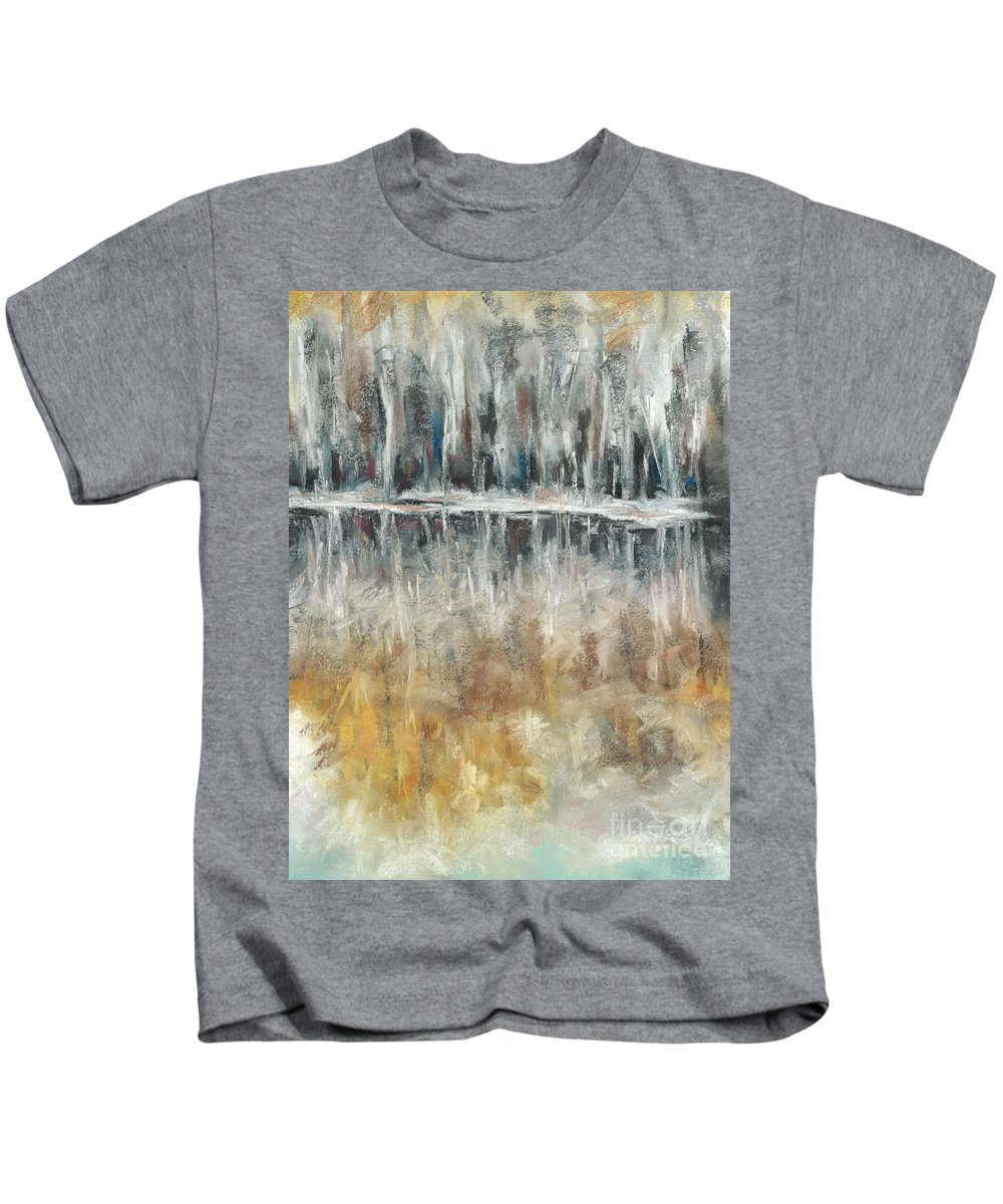 Trees Kids T-Shirt featuring the painting Theres Two Sides To Everything by Frances Marino