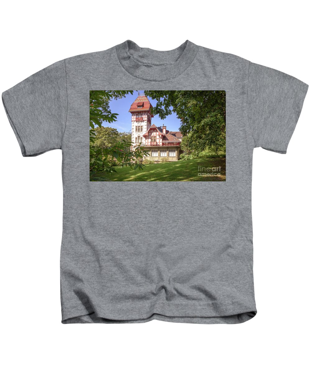 Heimat Kids T-Shirt featuring the photograph Theresienstein Sommer by Russ C Adams
