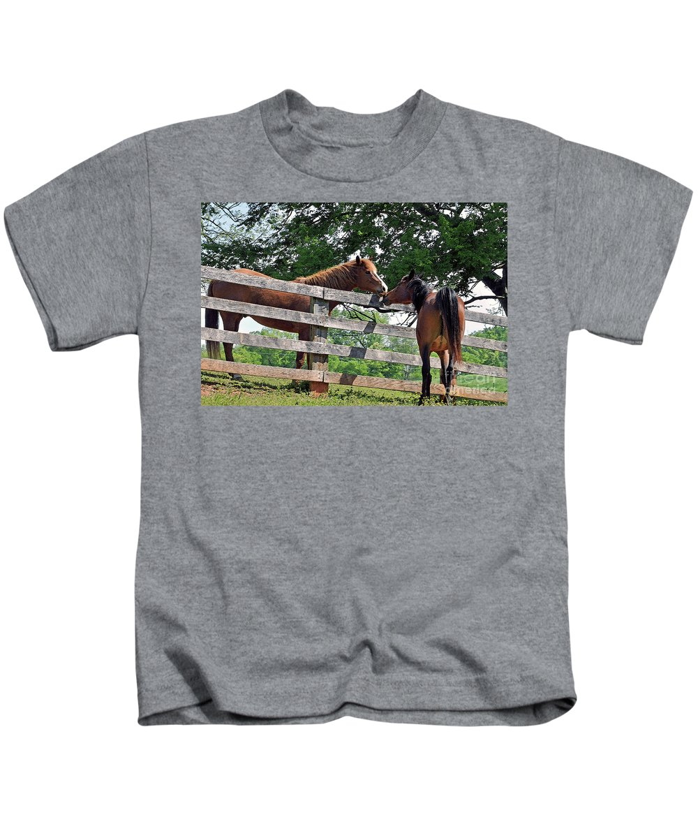 Horse Kids T-Shirt featuring the photograph This Is Love by Lydia Holly