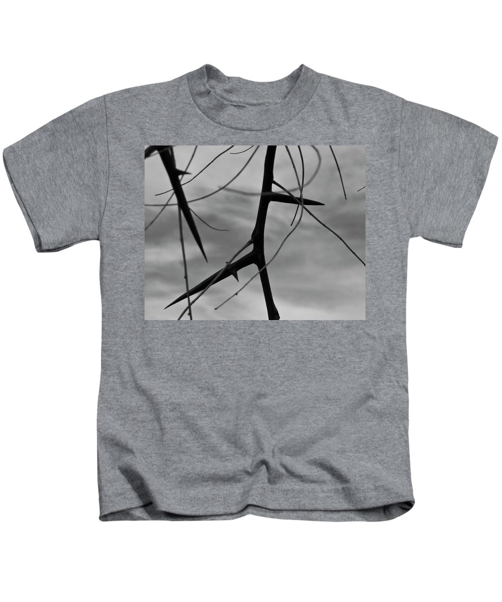 Thorns Kids T-Shirt featuring the photograph Thorns In Silouette by Angus Hooper Iii