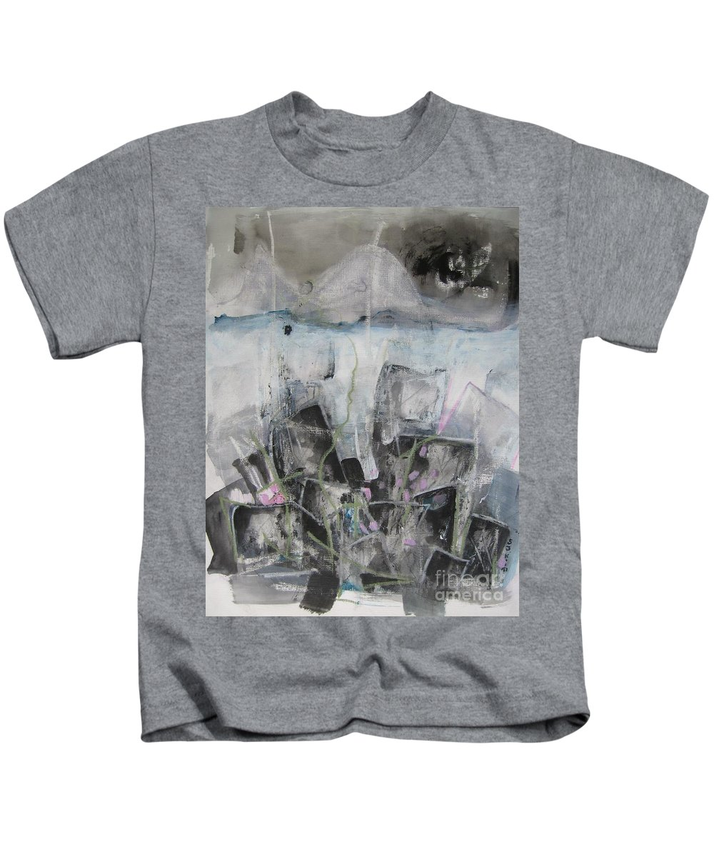 Cemetery Kids T-Shirt featuring the painting Three Arms by Seon-Jeong Kim