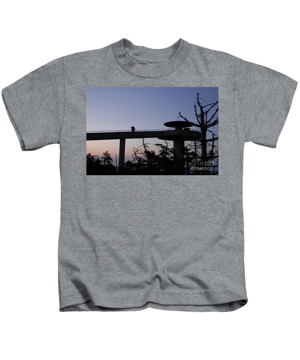 Appalachian Trail Kids T-Shirt featuring the photograph Through Hiker by David Lee Thompson