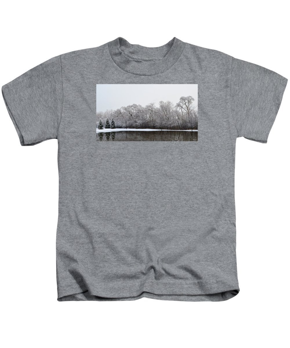 Landscape Kids T-Shirt featuring the photograph Through My Window by Iliyan Bozhanov