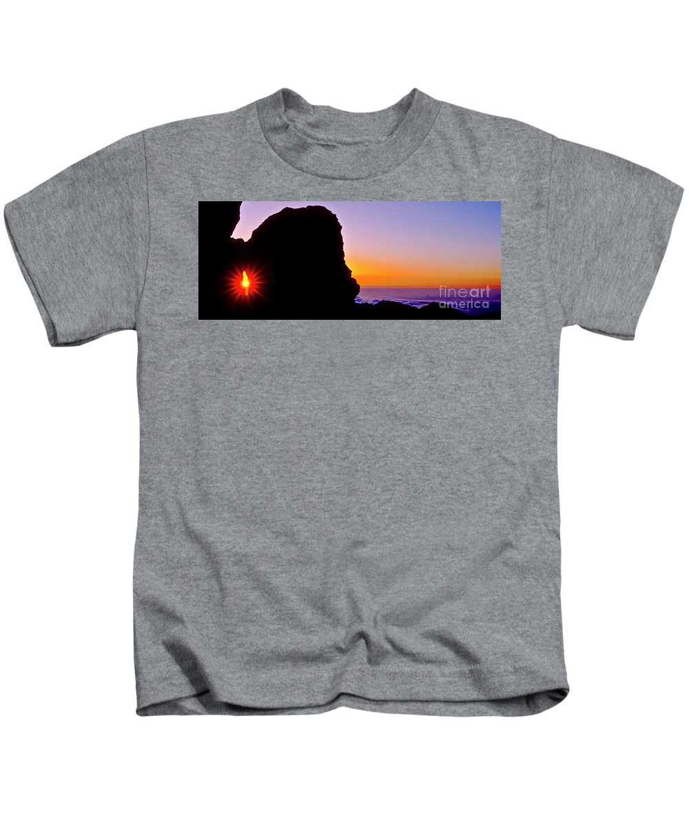 Haleakala Kids T-Shirt featuring the photograph Through The Looking Glass by Jim Cazel