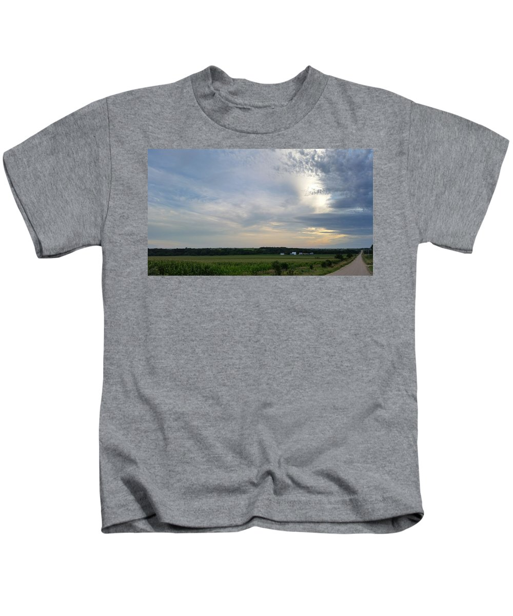 Landscape Kids T-Shirt featuring the photograph Thunder Road by Caryl J Bohn