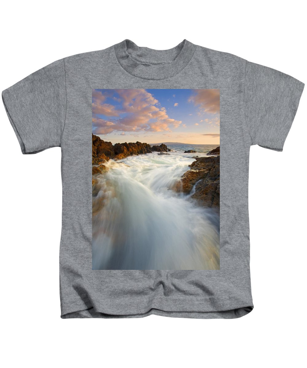 Surge Kids T-Shirt featuring the photograph Tidal Surge by Mike Dawson