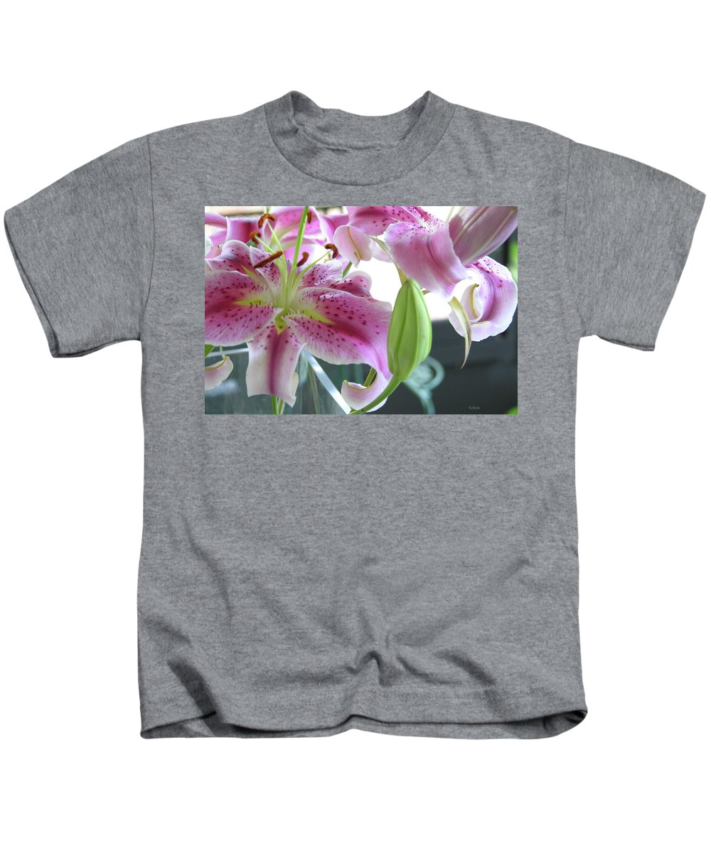 Photography Kids T-Shirt featuring the photograph Tiger Lilies by Julianne Felton