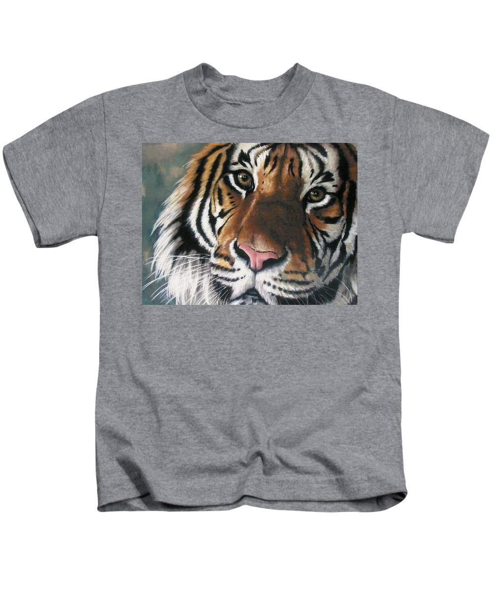 Tiger Kids T-Shirt featuring the pastel Tigger by Barbara Keith