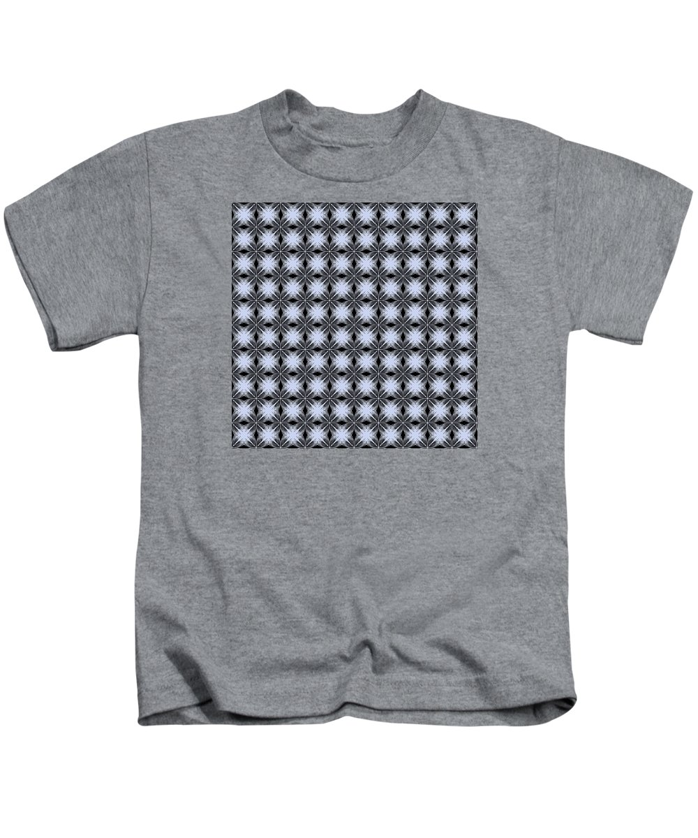 Abstract Kids T-Shirt featuring the digital art Tiles.2.128 by Gareth Lewis