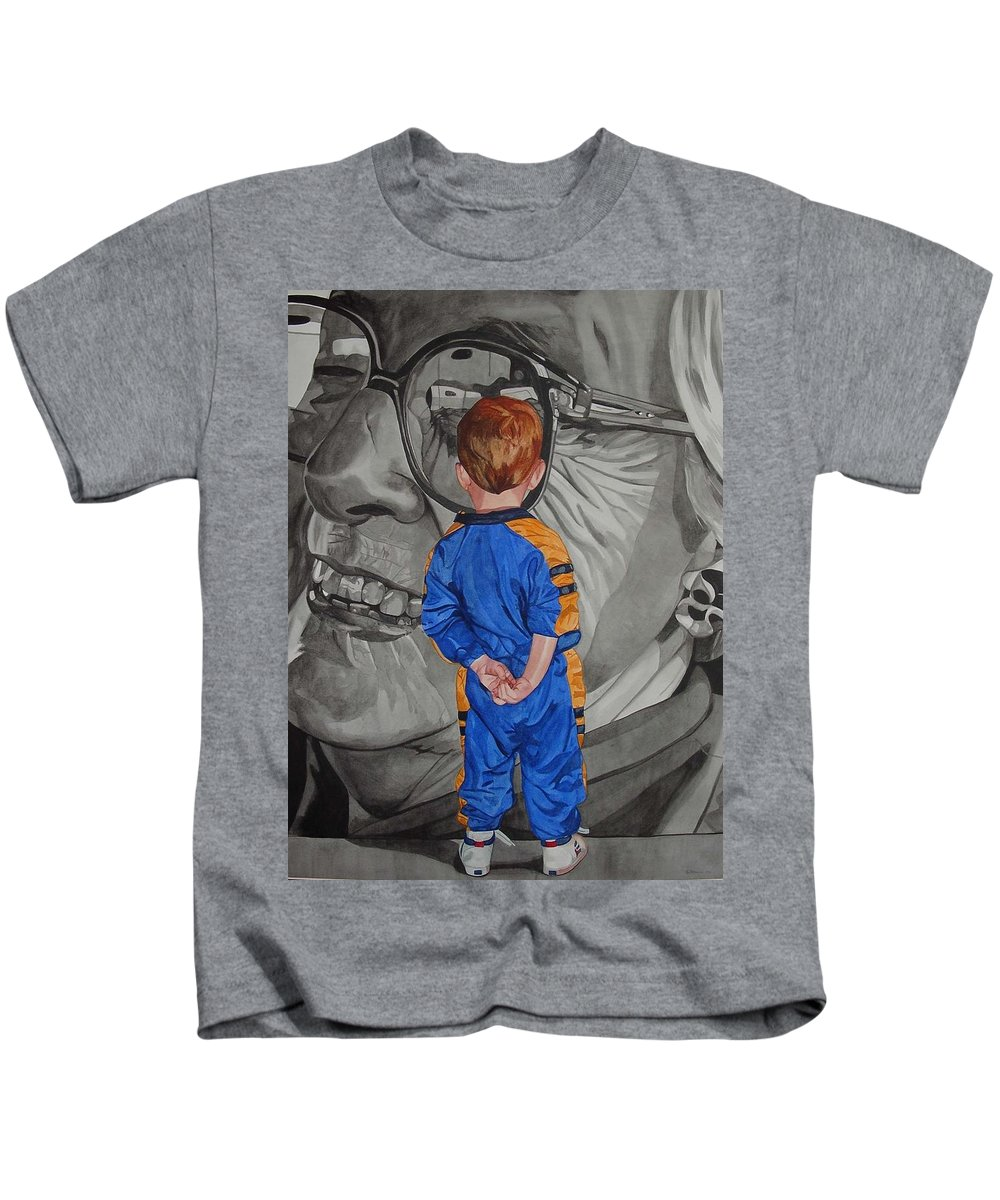 Children Kids T-Shirt featuring the painting Timeless Contemplation by Valerie Patterson