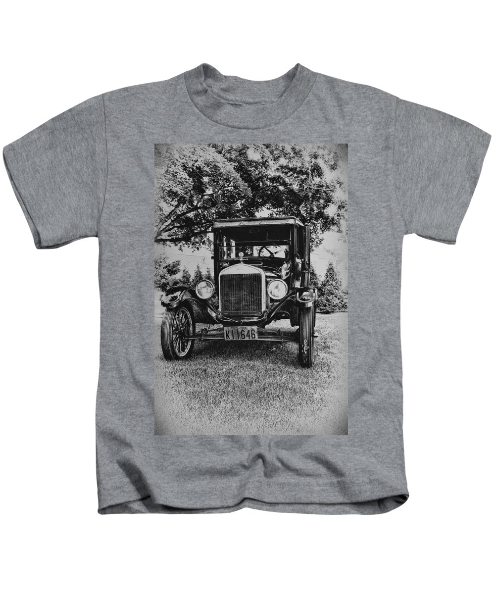 Ford Model T Kids T-Shirt featuring the photograph Tin Lizzy - Ford Model T by Bill Cannon