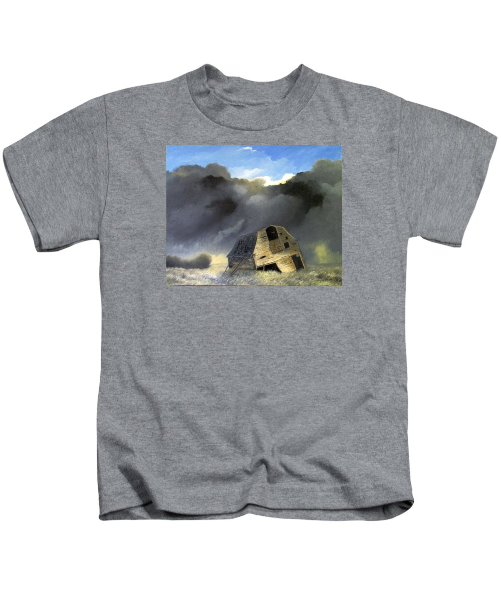 Landscape Kids T-Shirt featuring the painting To Be Or Not To Be 24x30 by Boris Garibyan