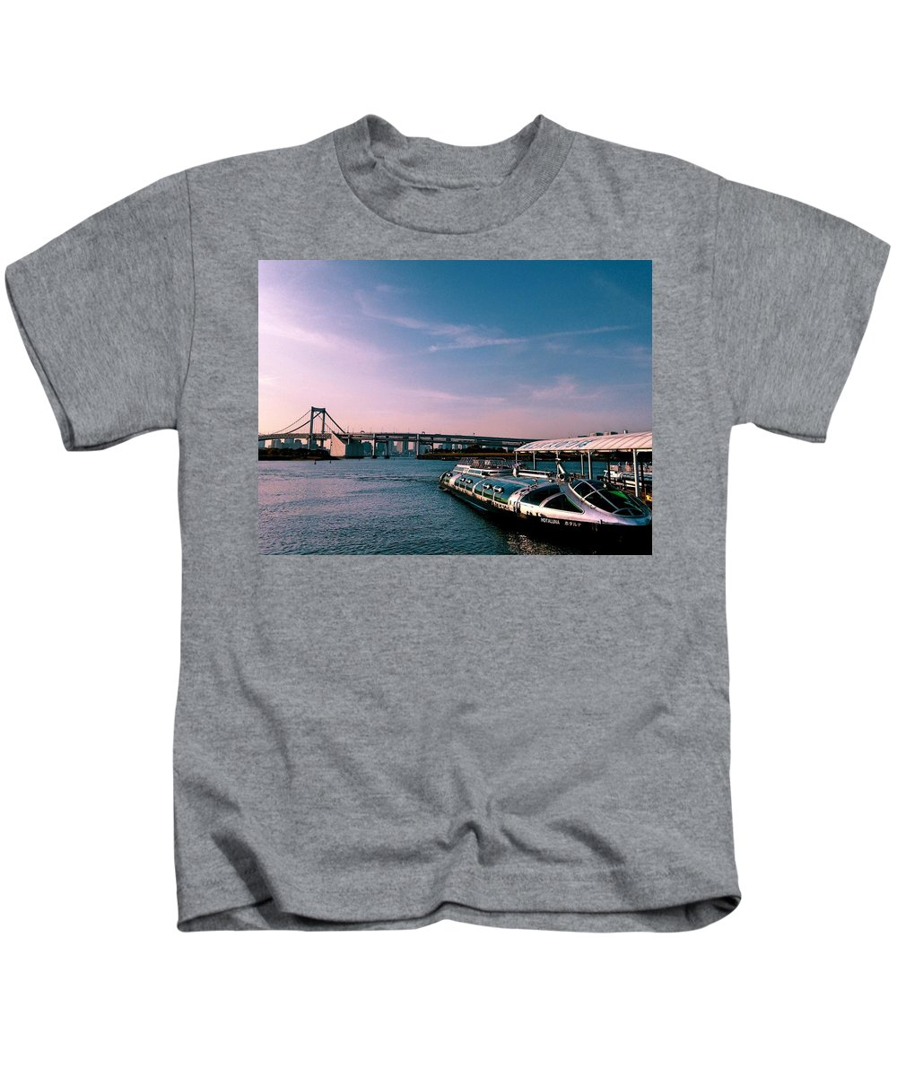 Landscape Kids T-Shirt featuring the photograph To The Space From Sea by Momoko Sano