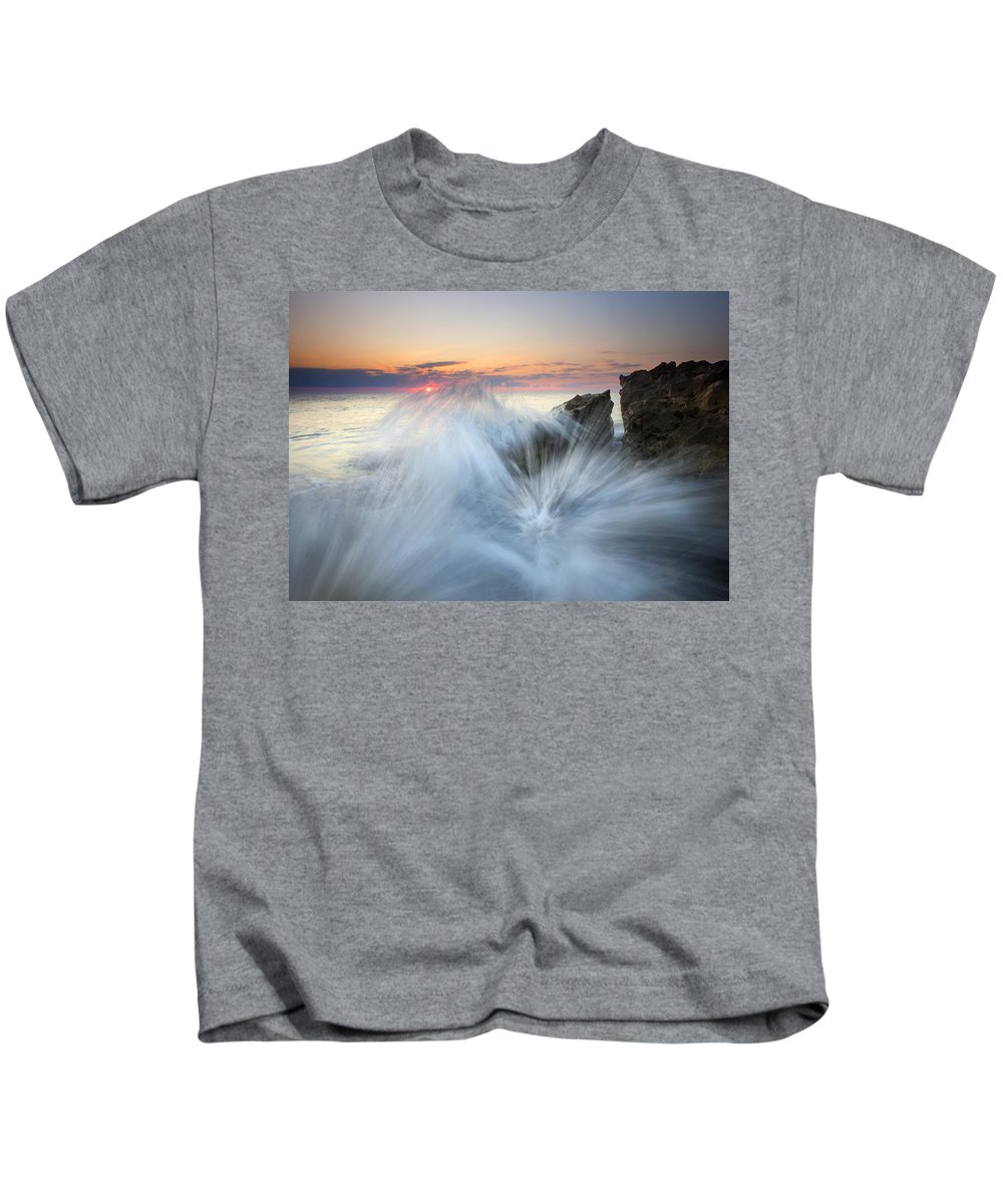 Sunrise Kids T-Shirt featuring the photograph Too Close For Comfort by Mike Dawson