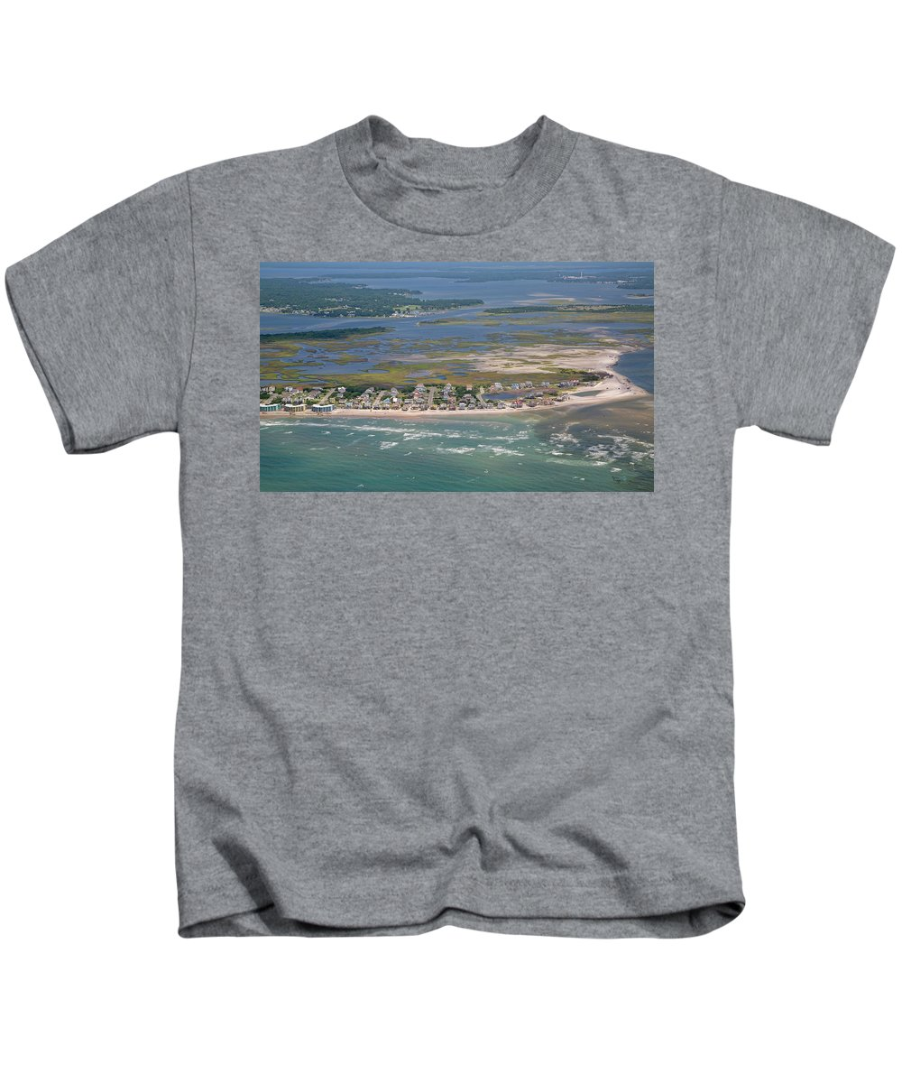 Topsail Kids T-Shirt featuring the photograph Topsail Island Migratory Model by Betsy Knapp