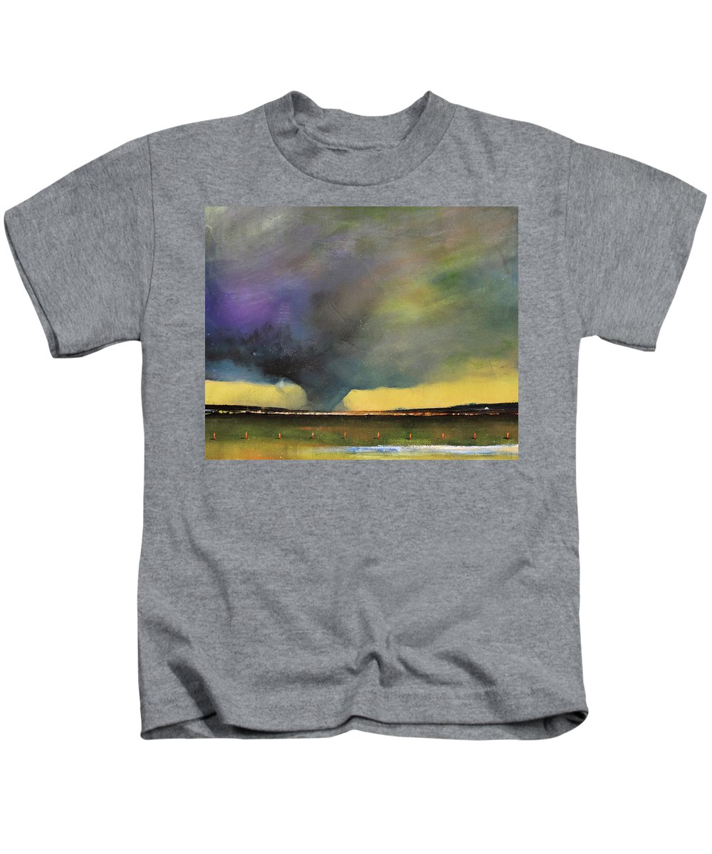 Tornado Kids T-Shirt featuring the painting Tornado Warning by Toni Grote