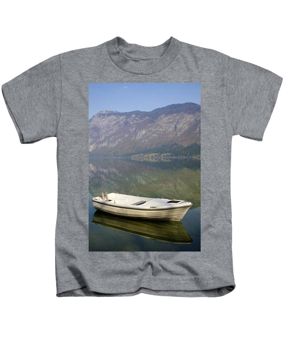Mountains Kids T-Shirt featuring the photograph Tranquil by Ian Middleton