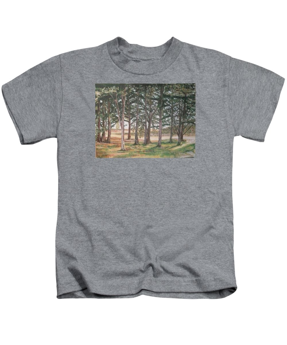 Landscape Kids T-Shirt featuring the painting Tree Collection by Robert Levene