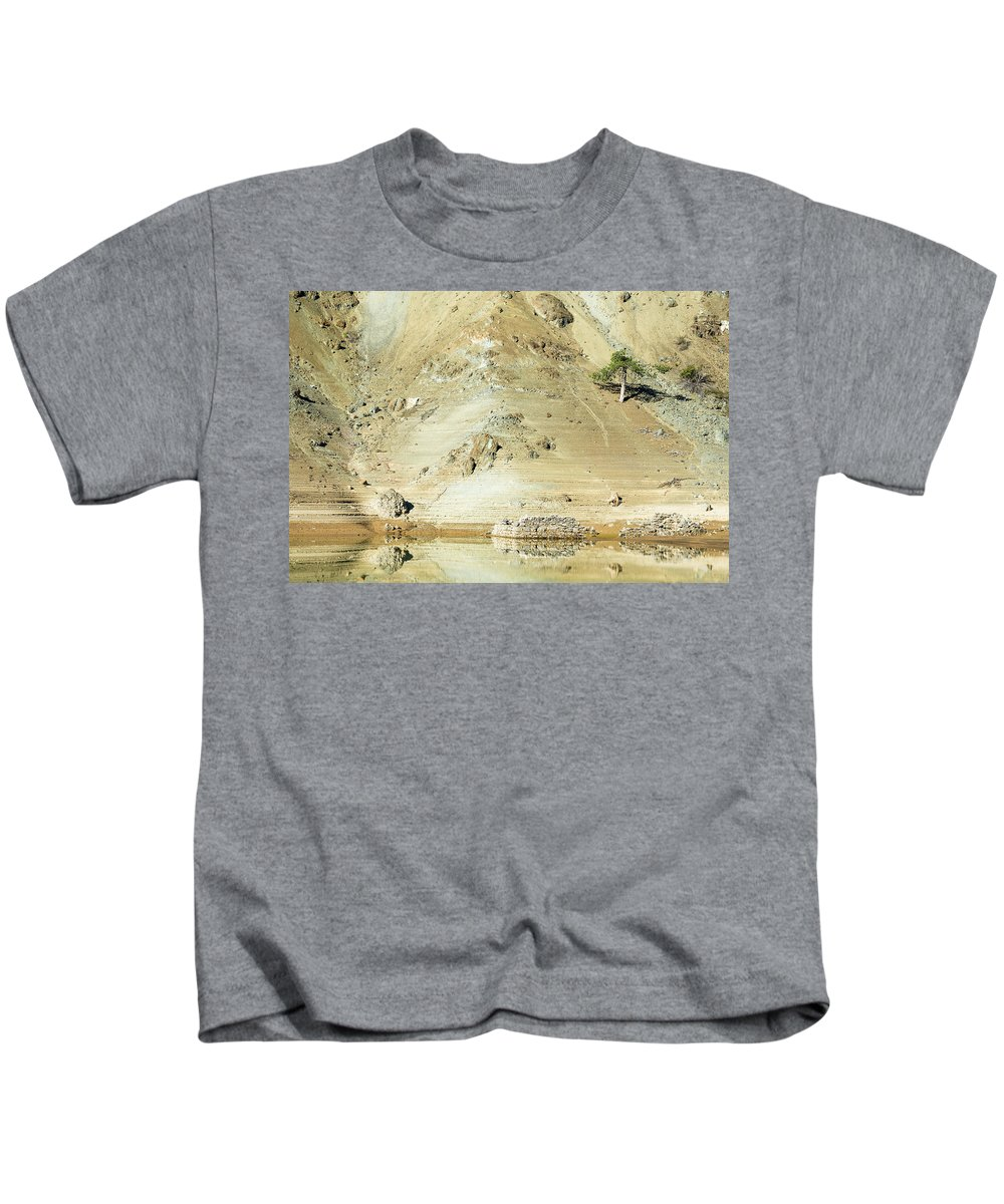 Landscape Kids T-Shirt featuring the photograph Tree In The Desert by Michalakis Ppalis