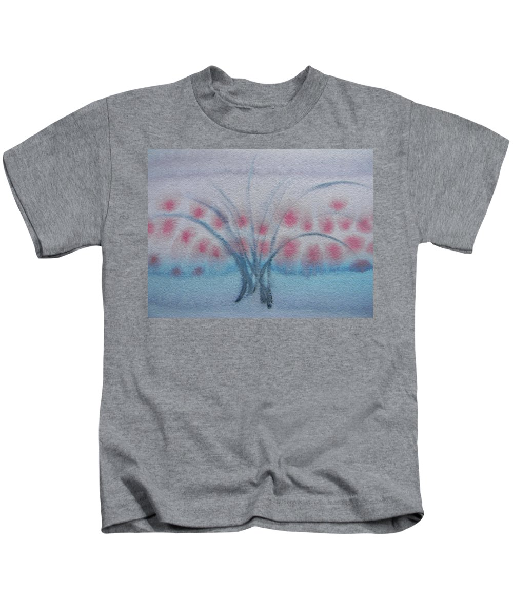 Marwan Kids T-Shirt featuring the painting Tree With Balls Three by Marwan George Khoury