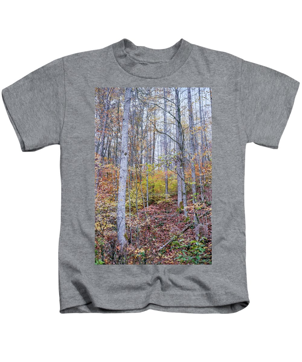 Trees Kids T-Shirt featuring the photograph Trees In Autumn by Cris Ritchie