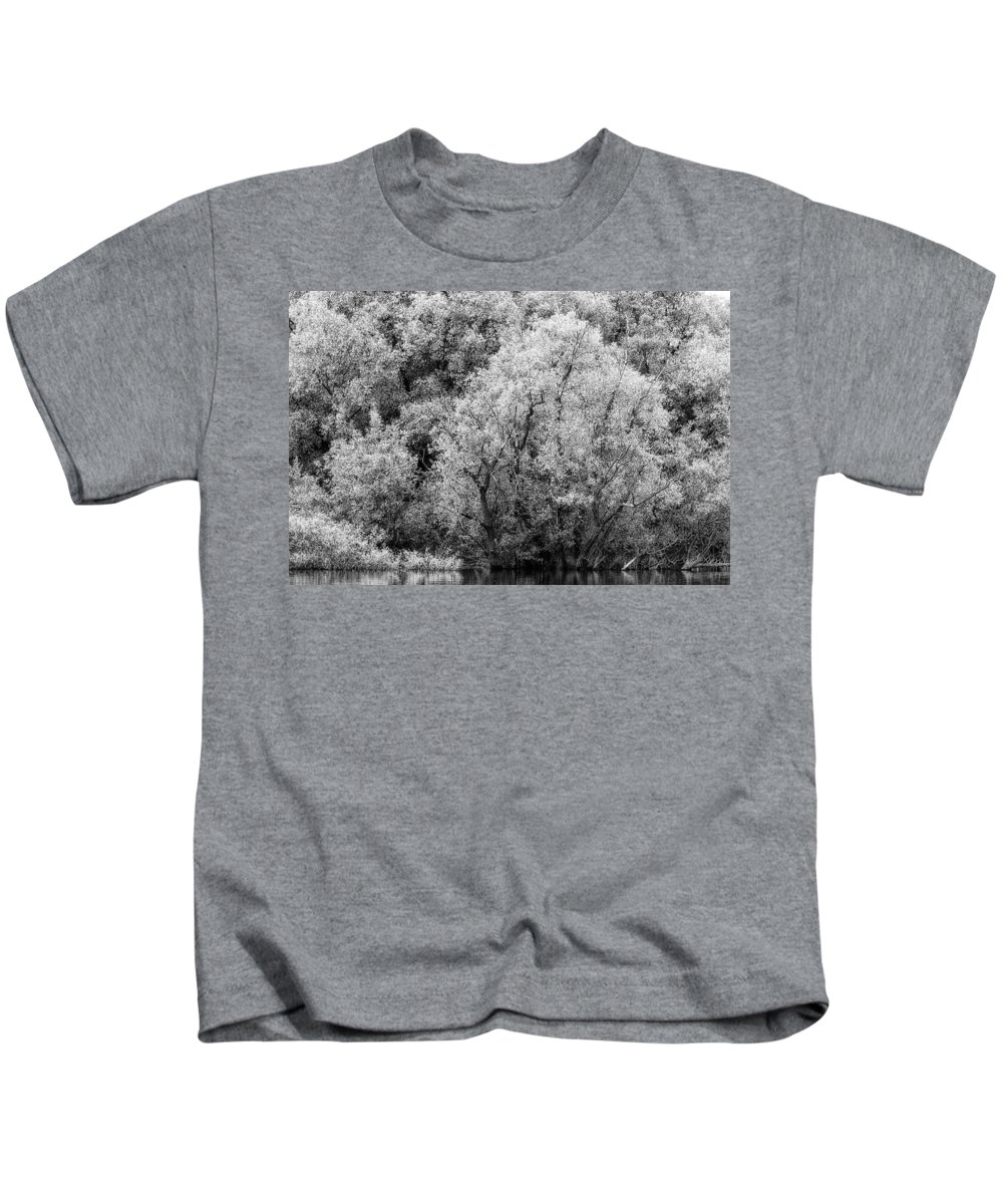 Adda Kids T-Shirt featuring the photograph Trees On The River by Roberto Pagani