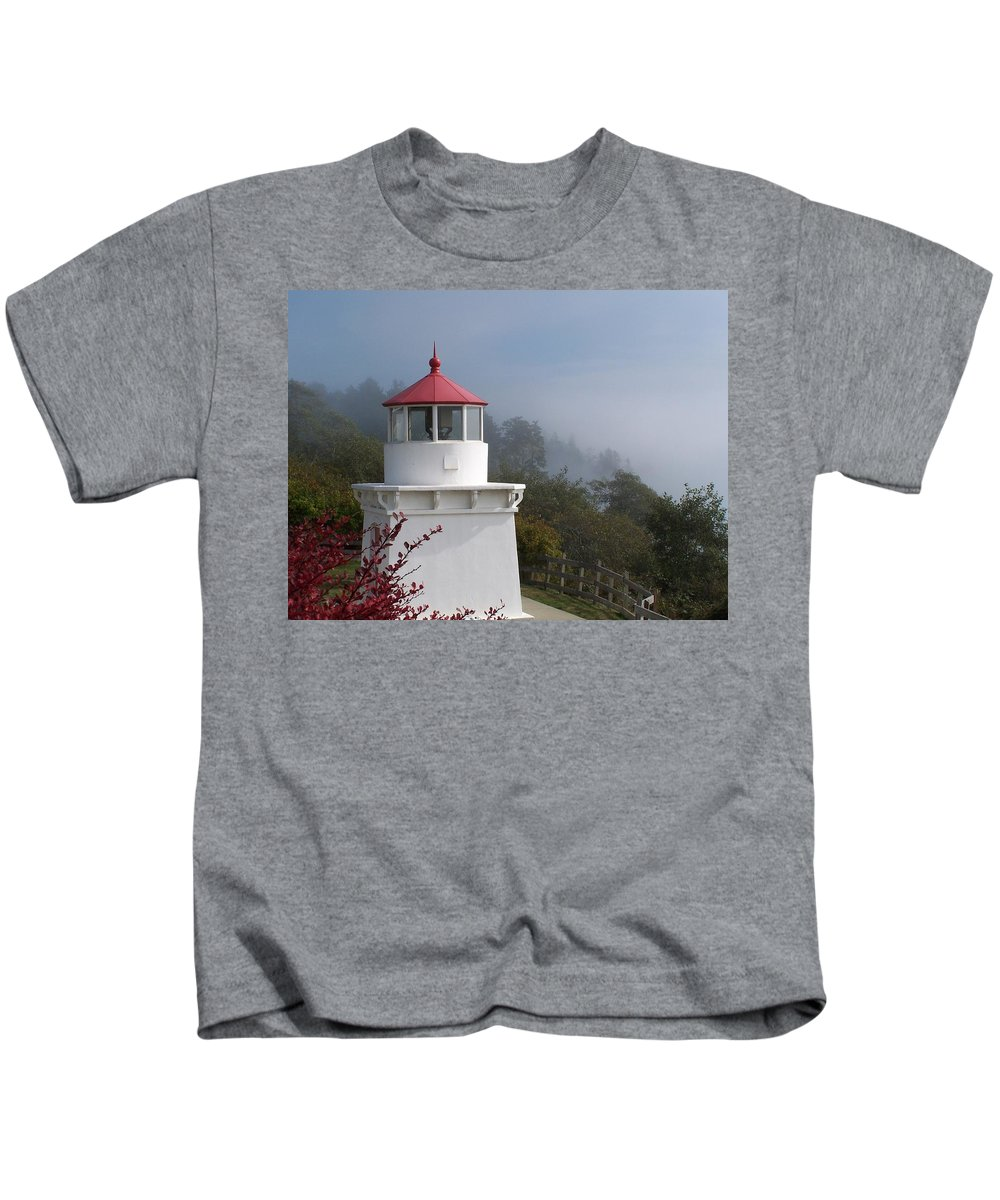 Lighthouse Kids T-Shirt featuring the photograph Trinidad Head Lighthouse by Gale Cochran-Smith
