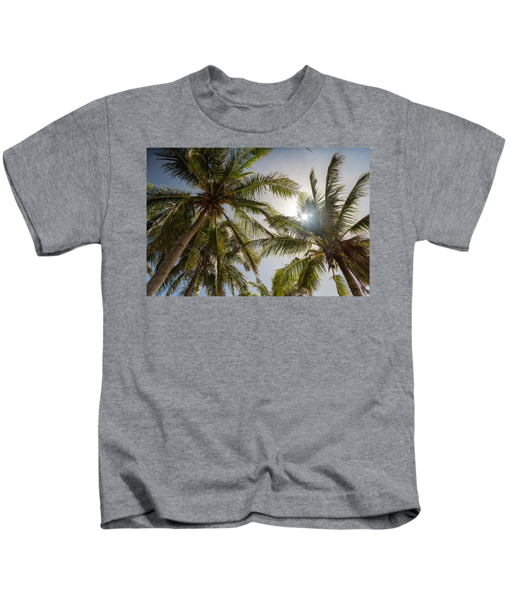 Coconut Kids T-Shirt featuring the photograph Tropical Sun by James BO Insogna