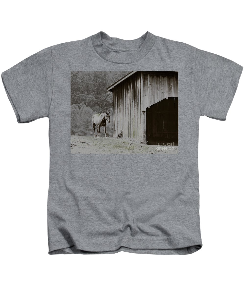 Animal Kids T-Shirt featuring the photograph Trust by Dana DiPasquale