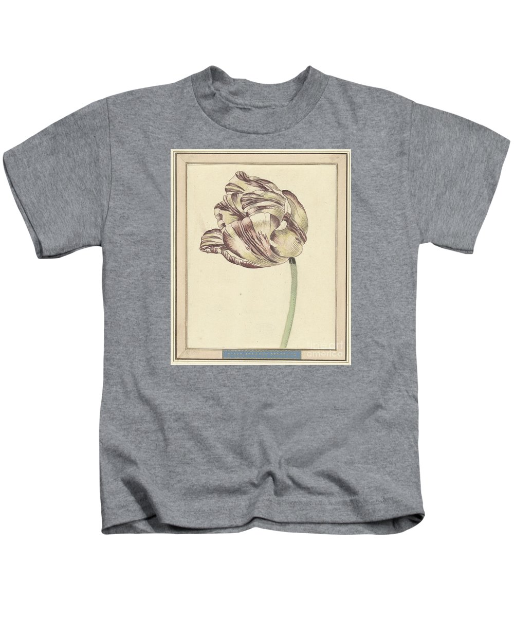 Tulip Kids T-Shirt featuring the painting Tulip by Celestial Images
