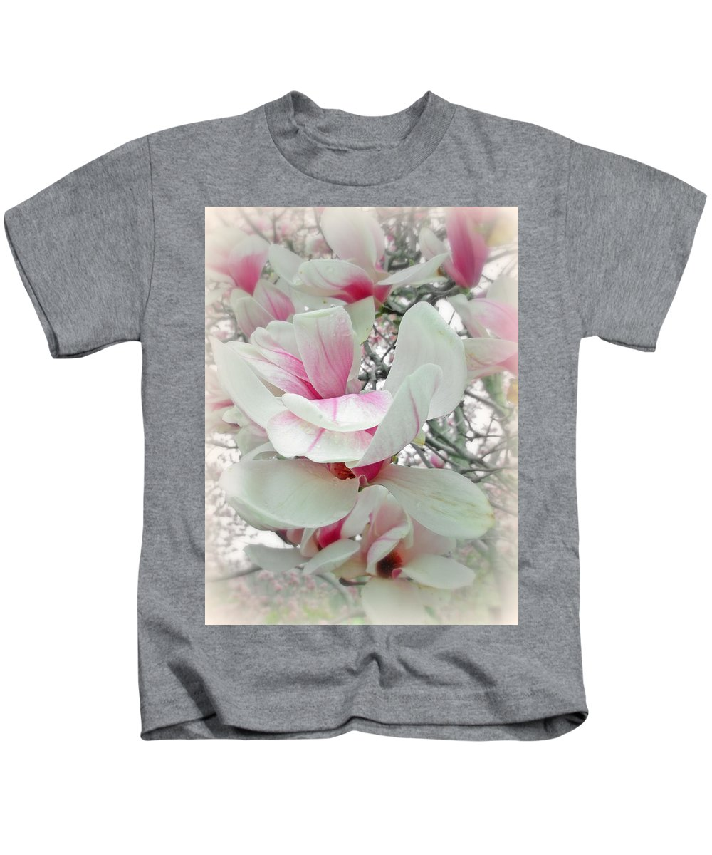 Magnolia Kids T-Shirt featuring the photograph Tulip Tree Blossoms - Magnolia Liliiflora by Mother Nature