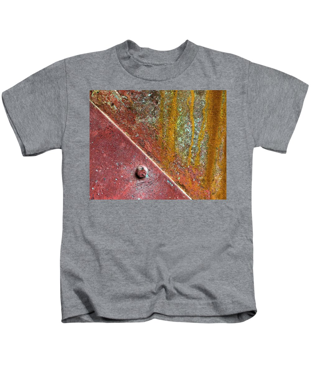 Rust Kids T-Shirt featuring the photograph Tussled by Dorothy Hilde